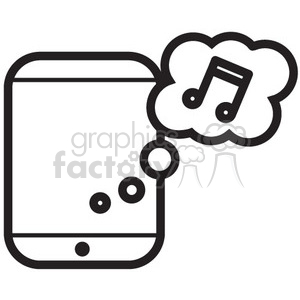 cloud music app vector icon clipart. Commercial use image # 398684