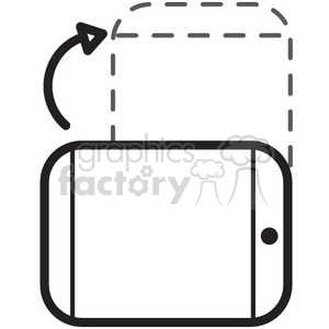 portrait mode phone vector icon