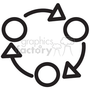 rotation process vector icon clipart. Royalty-free image # 398699