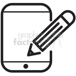 write to device vector icon clipart. Royalty-free image # 398719