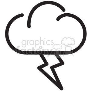 weather lightning vector icon clipart. Commercial use image # 398729