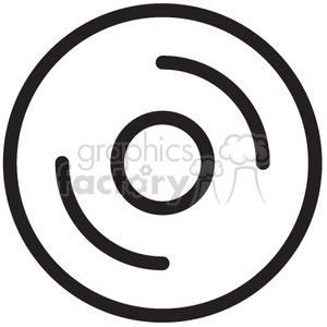 cd disc vector icon clipart. Royalty-free image # 398739