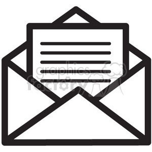 email icon vector  clipart. Commercial use image # 398764