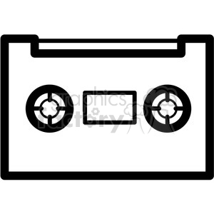 cassette tape vector icon clipart. Commercial use icon # 398849