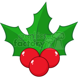 royalty free rf clipart illustration christmas holly berries and leaves vector illustration isolated on white clipart. Commercial use image # 399254