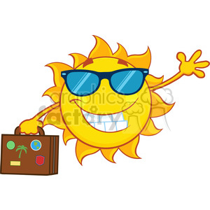 nature weather summer sun sunny cartoon travel vacation smile happy