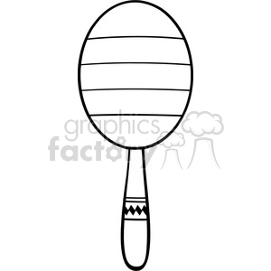 black and white mexican maracas vector illustration isolated on white background clipart. Royalty-free image # 399898