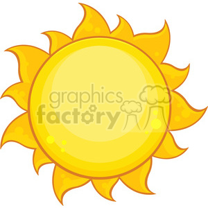 coloroful yellow simple sun with gradient vector illustration isolated on white background clipart. Royalty-free image # 399908