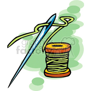 sew sewing needle needles thread spool Clip Art Other