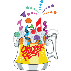 oktoberfest cartoon beer mug clipart. Royalty-free image # 400323