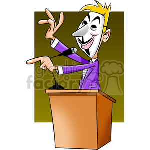 vector clipart image of anonymous politician clipart. Commercial use image # 400333