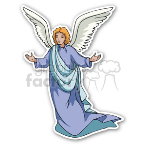 christmas angel v2 sticker clipart. Royalty-free image # 400351