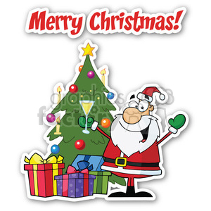 merry christmas sticker cheers clipart. Royalty-free image # 400381