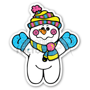 christmas snowman v4 sticker clipart. Royalty-free image # 400457
