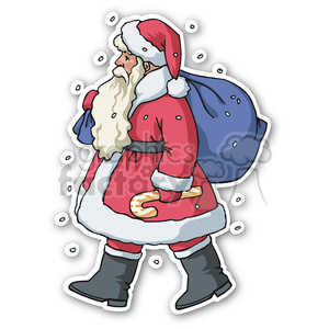 christmas santa v4 sticker clipart. Royalty-free image # 400465
