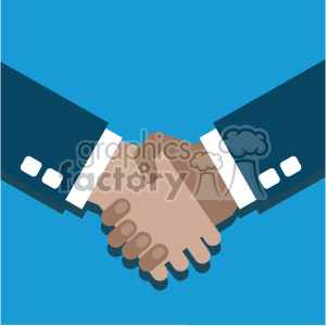hand shake partner agreement hispanic flat design vector art clipart. Royalty-free image # 400645