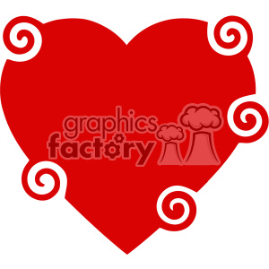 spiral heart svg cut files vector valentines die cuts clip art