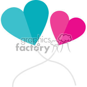 two heart balloons svg cut files vector valentines die cuts clip art clipart. Royalty-free image # 402314