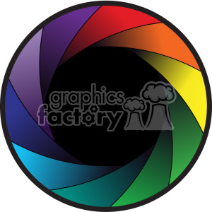 vector colorful camera shutter icon clipart. Royalty-free image # 402362