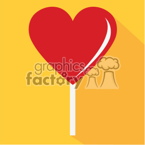 heart shaped popsicle vector art flat design clipart. Royalty-free image # 402372