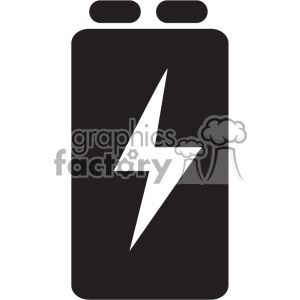 battery 9 volt vector icon art clipart. Royalty-free image # 402384