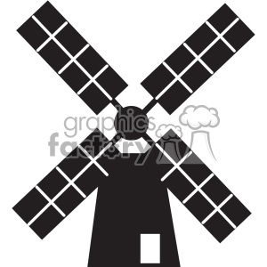 windmill vector icon art clipart. Royalty-free image # 402386