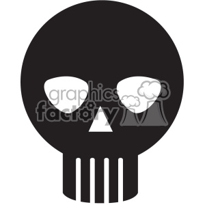 black skull vector icon art clipart. Royalty-free image # 402388