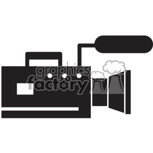 video camera vector icon art clipart. Royalty-free image # 402389