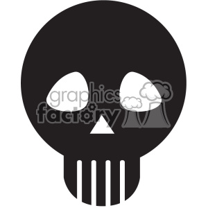 skull vector icon art clipart. Royalty-free image # 402390