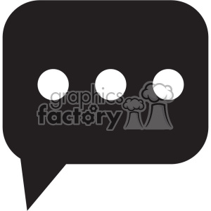 chat black vector icon art clipart. Royalty-free image # 402397