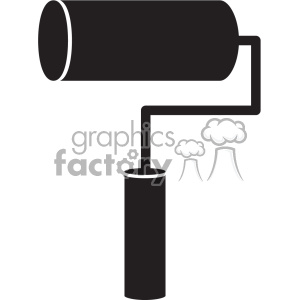 paint roller vector art clipart. Royalty-free image # 402400