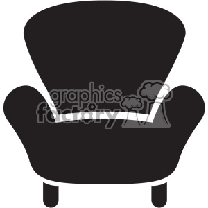 chair vector icon art clipart. Royalty-free image # 402401