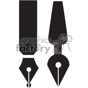 calligraphy pen tip vector clipart. Commercial use image # 402404