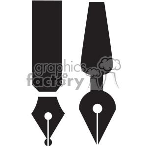 calligraphy tip vector art