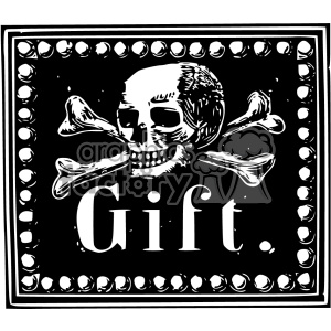 skull poison gift vintage 1900 vector art GF clipart. Commercial use image # 402432
