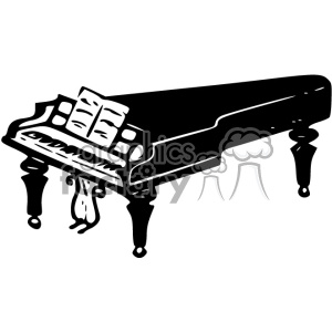 piano vintage 1900 vector art GF clipart. Royalty-free image # 402442