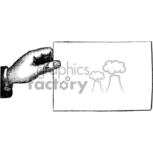 vintage distressed vintage hand holding a sign GF vector design vintage 1900 vector art GF clipart. Commercial use image # 402462