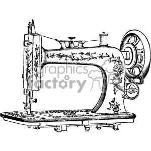 vintage sewing machine vector vintage 1900 vector art GF clipart. Royalty-free image # 402522