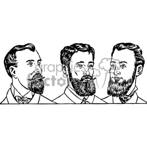 mens beard styles 1900 vector clipart. Royalty-free image # 402532