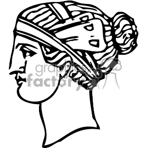 1900 Grecian hairdressing 8 vintage 1900 vector art GF clipart. Royalty-free image # 402547