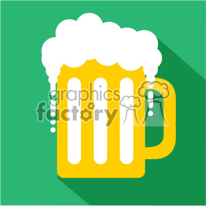 mug of beer for St Patricks Day flat vector design GF clipart. Royalty-free image # 402597