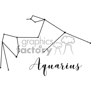 Constellations Aqr Aquarii the Water Bearer Aquarius vector art GF clipart. Commercial use image # 402639