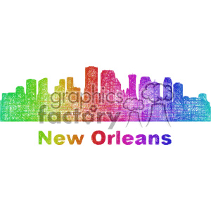 city skyline vector clipart USA New Orleans clipart. Commercial use image # 402672