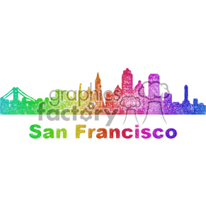 city skyline vector clipart USA San Francisco clipart. Royalty-free image # 402692