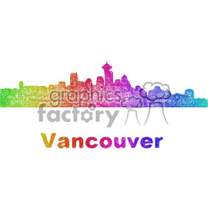 city skyline vector clipart CAN Vancouver clipart. Commercial use image # 402712