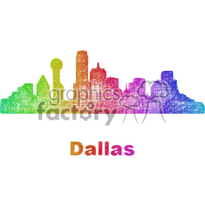 city skyline vector clipart USA Dallas clipart. Commercial use image # 402722