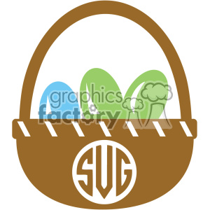 monogram easter svg cut file