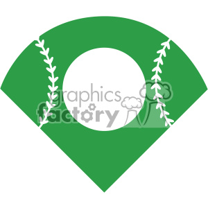 baseball field svg cut file vector clipart. Royalty-free image # 403054