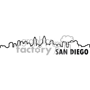 San Diego vector skyline clipart. Commercial use image # 403104
