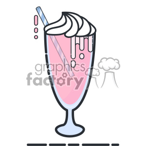 Milkshake flat vector icon design clipart. Royalty-free image # 403174